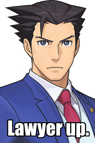 Phoenix Wright lawyer up