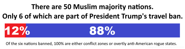 president trump's travel ban percentage of countries banned