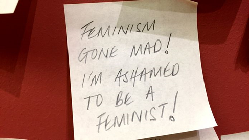 feminist note to curator