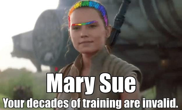 Rey Mary Sue Star Wars